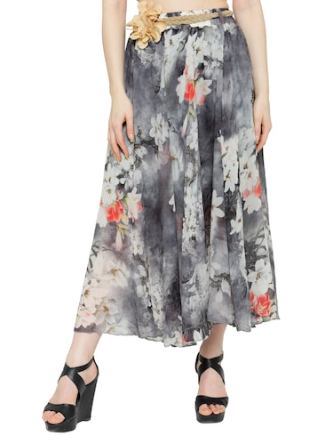 multi colored chiffon maxi skirt - 14921504 - Standard Image - 1