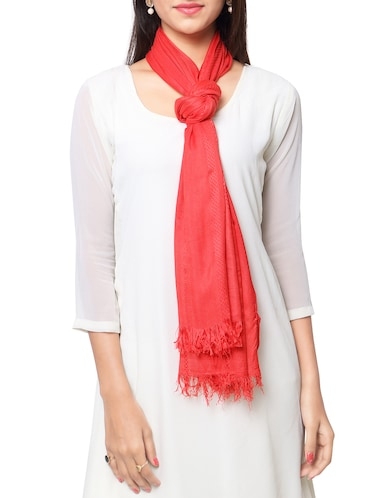 red viscose stole - 14925710 - Standard Image - 1