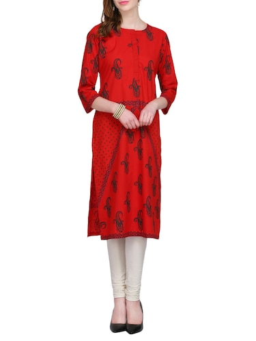 KAANCHIE NANGGIA cotton block printed kurta - 14926481 - Standard Image - 1