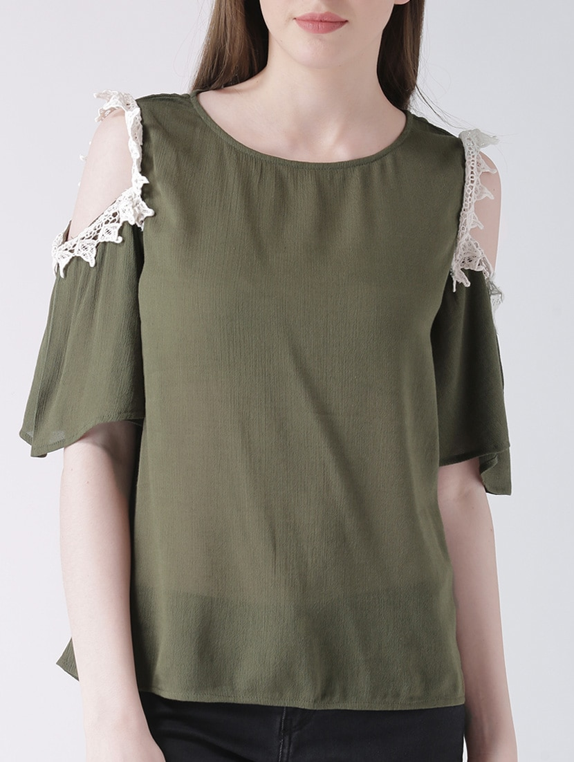 52808b91a500b1 Buy Olive Green Rayon Top for Women from The Vanca for ₹649 at 50 ...