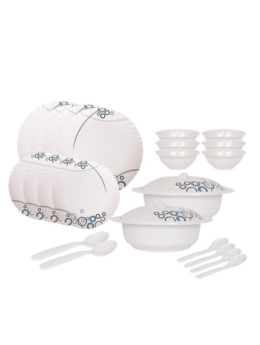 Buy Pack Of 24 Printed Dinner Set (microwave Safe, Food