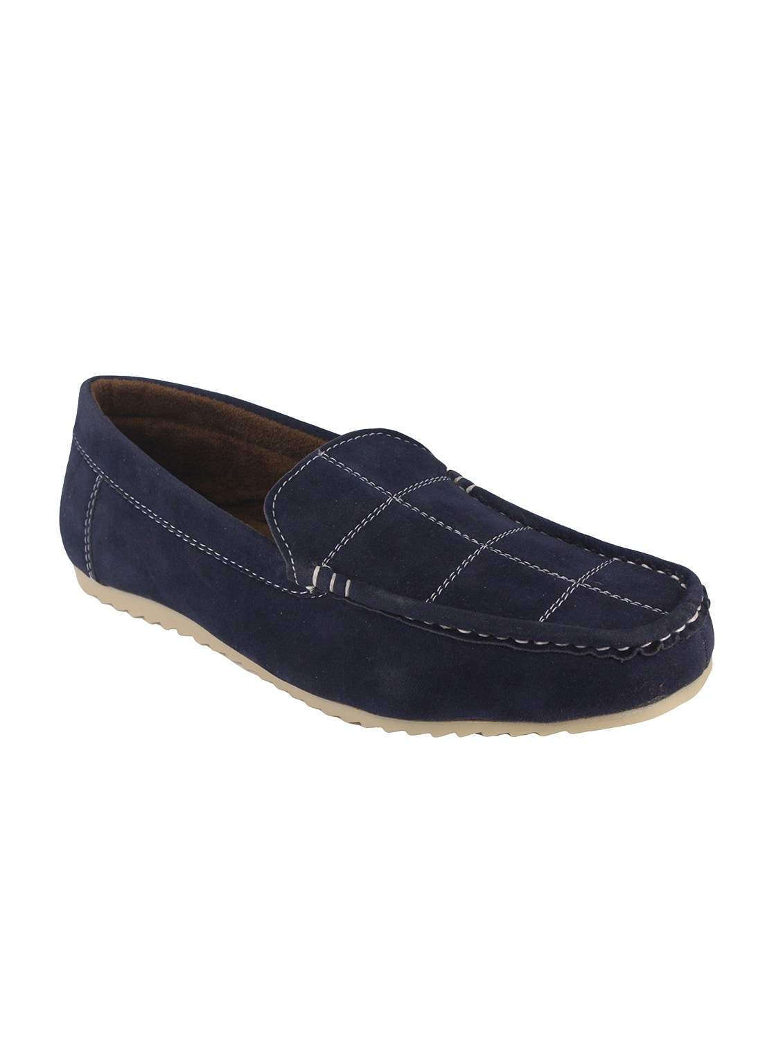 9063ffd5a28 Buy Blue Suede Slip On Loafer for Men from Leatherkraft for ₹549 at ...