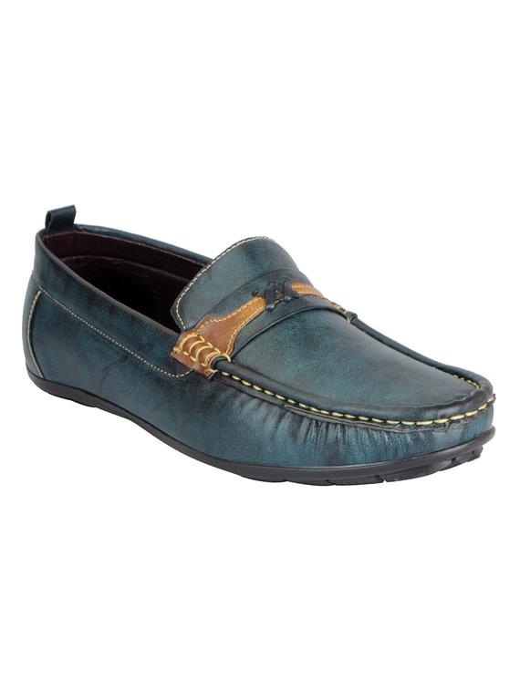 52b01827e9e Buy Blue Leatherette Slip On Loafer by Fausto - Online shopping for ...