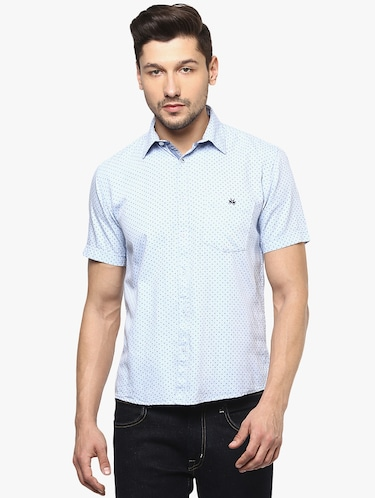 light blue cotton casual shirt - 14955172 - Standard Image - 1