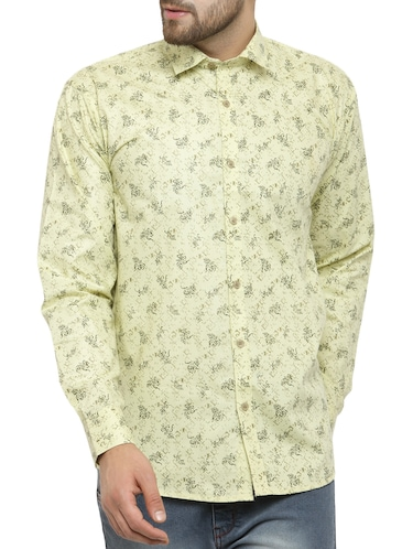 green cotton casual shirt - 14957416 - Standard Image - 1