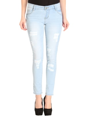 Distressed low rise jeans - 14966660 - Standard Image - 1