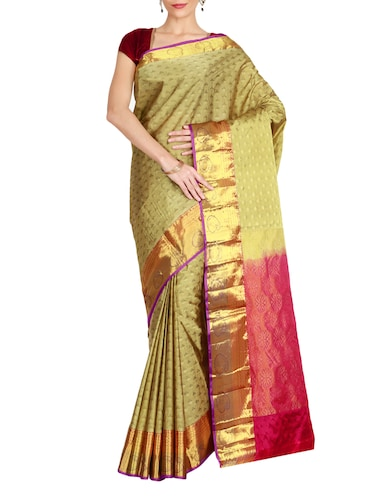 The Chennai Silks green kanjivaram saree with blouse - 14967054 - Standard Image - 1