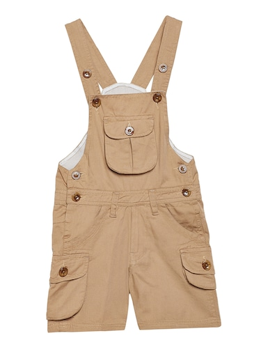 beige cotton dungaree - 14972741 - Standard Image - 1