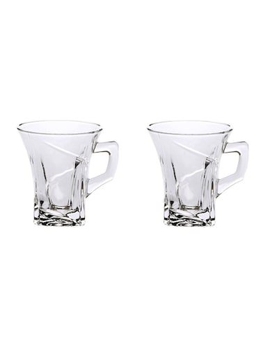 Tableware Plain Transparent Tea & Coffee Cup Mug, 6 Pcs - 14982302 - Standard Image - 1