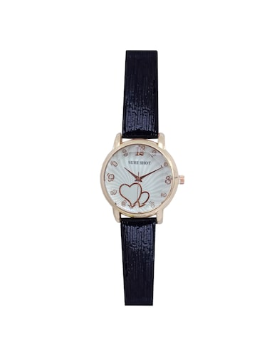 JM New Sure Short Style' Black Leather Belt Watch - 15000114 - Standard Image - 1