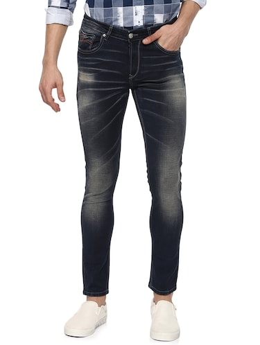 navy blue light washed jeans - 15000630 - Standard Image - 1