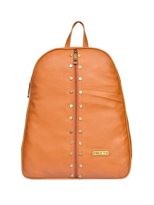 tan leatherette  regular backpack - 15002326 - Standard Image - 1