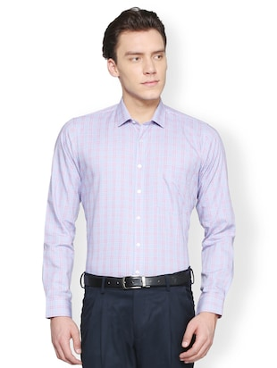 multi cotton blend formal shirt - 15007128 - Standard Image - 1