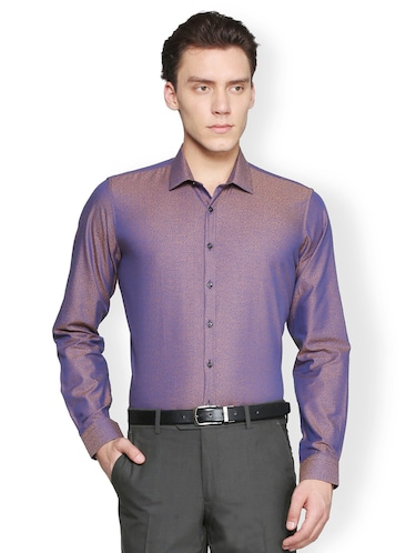 purple cotton casual shirt - 15007163 - Standard Image - 1