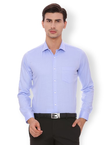 blue cotton formal shirt - 15007177 - Standard Image - 1