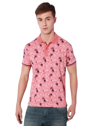 pink cotton all over print t-shirt - 15007319 - Standard Image - 1
