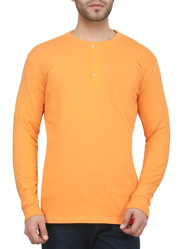 orange cotton t-shirt - 15009429 - Standard Image - 1