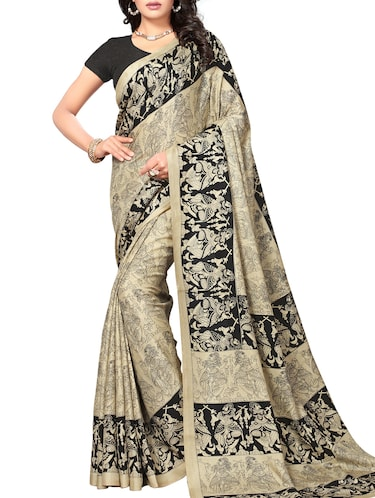 conversational printed saree with blouse - 15010622 - Standard Image - 1