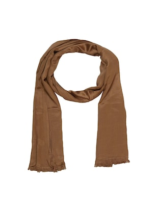 brown cotton scarf - 15010845 - Standard Image - 1