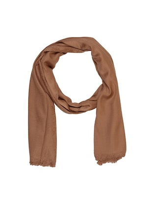 brown cotton scarf - 15010872 - Standard Image - 1