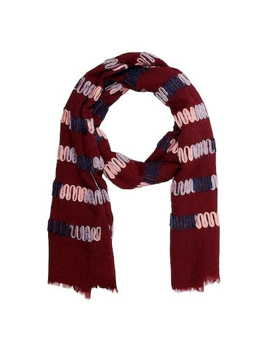 red cotton scarf - 15010890 - Standard Image - 1