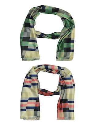 multi cotton scarf - 15010975 - Standard Image - 1