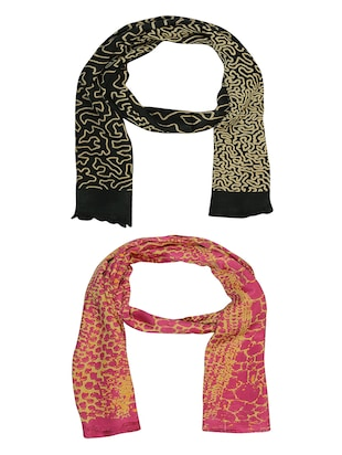 multi cotton scarf - 15010986 - Standard Image - 1