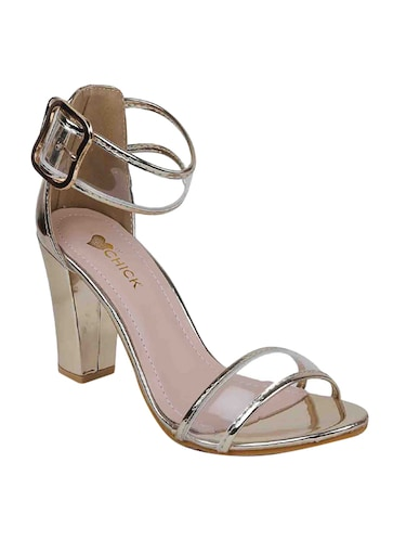 silver patent closed back sandals - 15011619 - Standard Image - 1