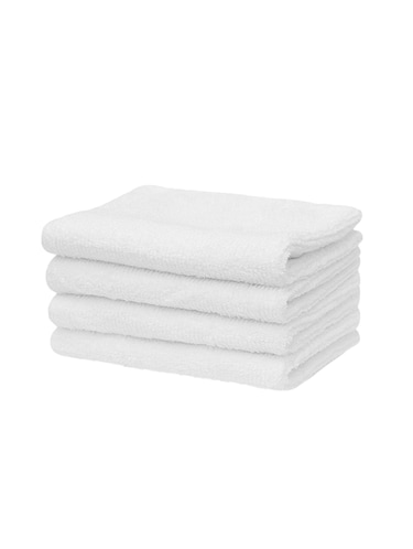 White Soft Hand towel Pack Of 4 pc - 15012180 - Standard Image - 1