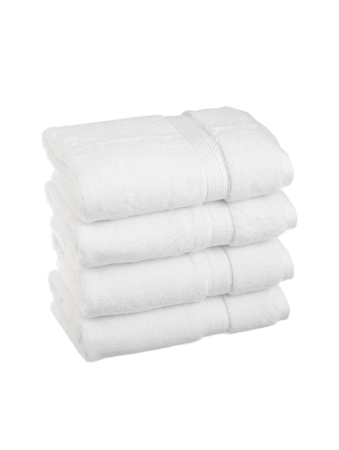 White Soft Bath towel Pack Of 4 pc - 15012187 - Standard Image - 1