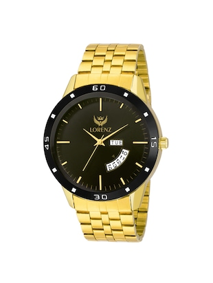 Lorenz MK-1070A Original Day & Date Edition Gold Men's Analog watch - 15013152 - Standard Image - 1