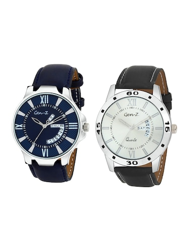 Gen-Z Combo of two day and date strap watches GENZ-CO-DD-0001-0005 - 15013219 - Standard Image - 1