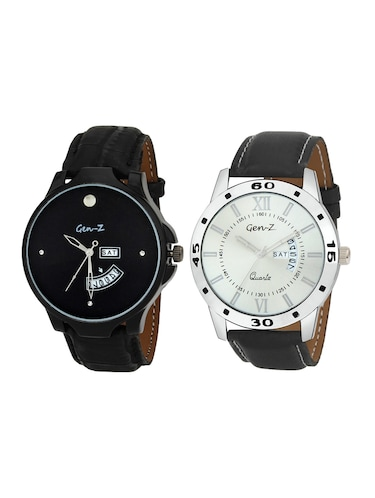 Gen-Z Combo of two day and date strap watches GENZ-CO-DD-0001-0007 - 15013221 - Standard Image - 1