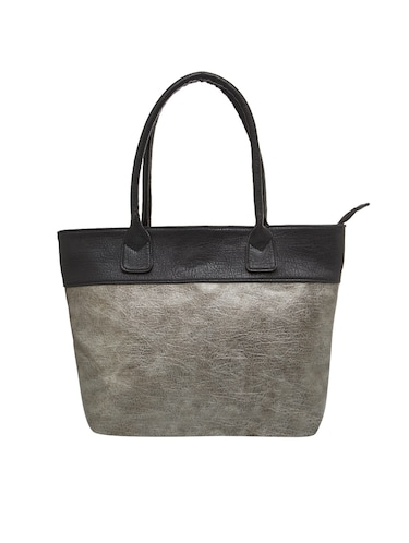 grey leather regular tote - 15013252 - Standard Image - 1