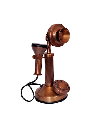 Antique Style Brass Telephone Non Working Only For Decorative - 15013596 - Standard Image - 1
