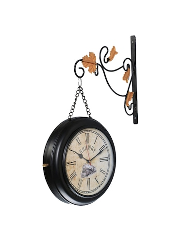 Vintage Two Sided Metal Train Station Clock Wall Clock - 15013603 - Standard Image - 1
