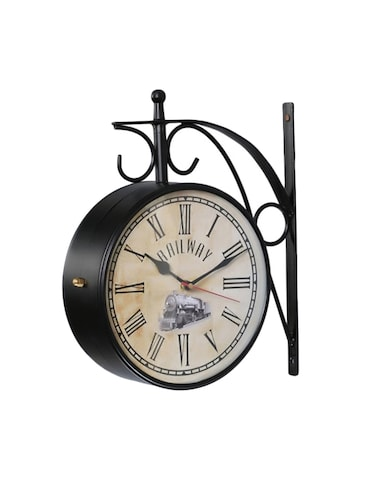 Antique Look Metal Train Station Clock Double Side Wall Clock - 15013649 - Standard Image - 1