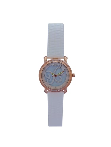 JM New Leina Style L3 White Leather Belt Watch - 15014016 - Standard Image - 1