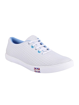 white Mesh lace up sneaker - 15015456 - Standard Image - 1