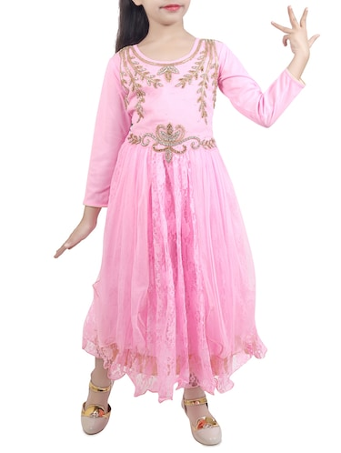 pink net party gown - 15015997 - Standard Image - 1