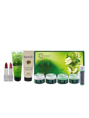 Green Apple Facial Kit (250+10)g with Lipstick Free - 15017977 - Standard Image - 1