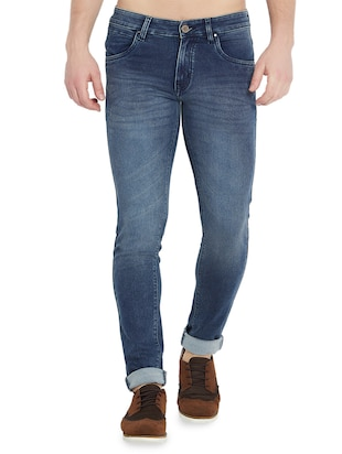 blue denim washed jeans - 15018993 - Standard Image - 1