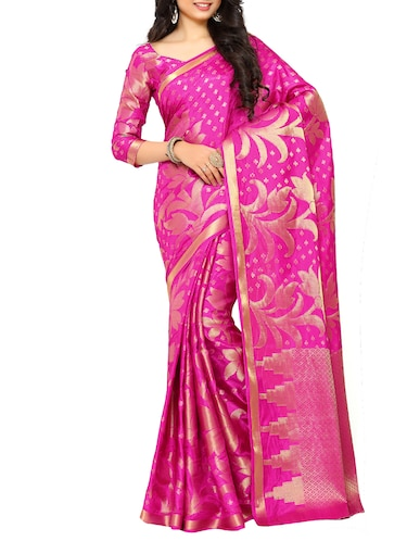 pink art silk kanjivaram saree with blouse - 15019296 - Standard Image - 1