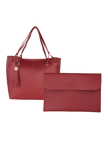 red leatherette handbag - 15020879 - Standard Image - 1