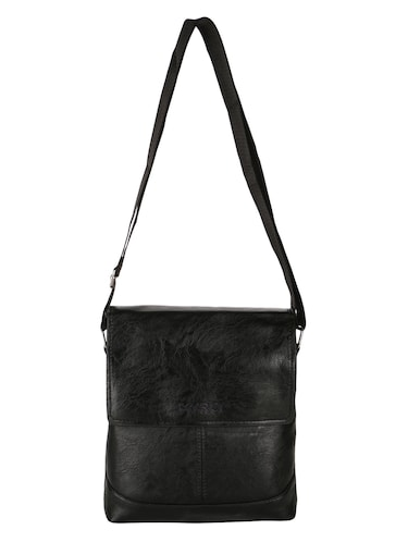 black leatherette  regular sling bag - 15020891 - Standard Image - 1