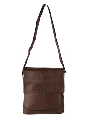 brown leatherette  regular sling bag - 15020892 - Standard Image - 1