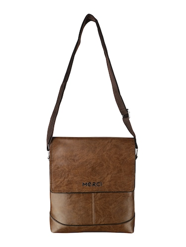 tan leatherette regular sling bag - 15020893 - Standard Image - 1