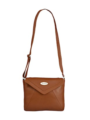 tan leatherette regular sling bag - 15021083 - Standard Image - 1