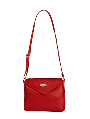 red leatherette  regular sling bag - 15021084 - Standard Image - 1