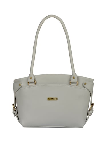 grey leatherette  regular handbag - 15021101 - Standard Image - 1
